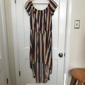 J for Justify Women's Striped High-low Hem Dress